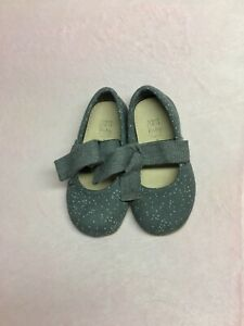 ZARA Baby Girl Ballet Flats With Bow Gray Size 20 US 4.5