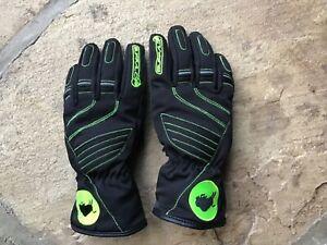 Ladies black buffalo motorcycle gloves