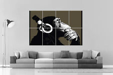 Monkey Sound Cool  wall Art Poster Grand format A0 Large Print