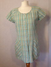 Racing Green duck egg blue check tunic top 12