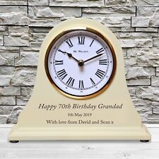 Grandad's Engraved Birthday Wooden Clock 60th 70th 80th 90th Grandpa Gift Idea
