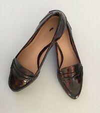 J Crew New Collins Tortoise Loafers 5.5 Patent Brown/Black Retail $238 E5046