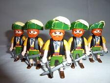 PLAYMOBIL  personnage bateau armes mer port océan soldat lot 5 pirates