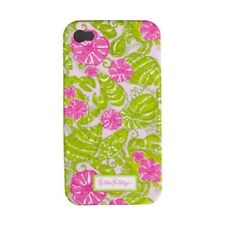 "LILLY PULITZER IPhone 4 / 4S ""CHUM BUCKET""  Mobile Cell Phone Cover PINK Case NW"