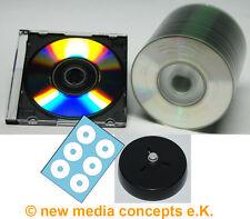 Mini CD Rohlinge 200 MB, in Slimbox Transpa, Etikettenbögen, Labelhilfe, 50 Stk.