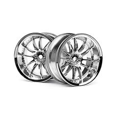 HPI Racing RC Car 1/10 Work XSA 02C Wheels Chrome 6mm 2pcs 3281