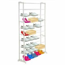 10 Tier 50 Pairs Shoe Stand Storage Organiser Rack Compact Space Save Shelf