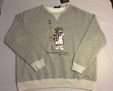 Polo Ralph Lauren Bear crew neck sweatshirt Rowing Crew XL XXL 1XB NWT Gray