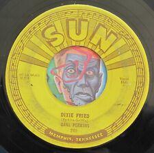 HEAR Carl Perkins 45 Dixie Fried/I'm Sorry I'm Not Sorry SUN 249 rockabilly