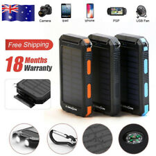 Dual USB Portable Solar Panel Battery Charger Power Bank for iPhone 5 5s16000mah Black