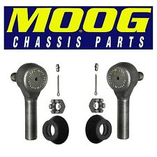 For Ford F600 Pair Set of 2 Front Outer Steering Tie Rod Ends Moog ES2062R