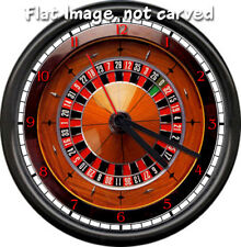 Flat Image Not 3D Roulette Wheel Casino Gaming Sign Gift Wall Clock #688
