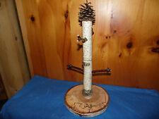 rustic log coffee mug/cup stand home/cabin decor handmade of birch wood holds 4