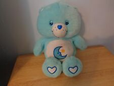 RARE 2003 PLUSH DOLL FIGURE CARE BEARS GLOW-A LOT BEDTIME BEAR TV CHARACTER TOY