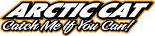"Arctic cat Catch me if you can snowmobile sticker decal 22"" orange"