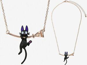 Studio Ghibli Kiki's Delivery Service Jiji Hanging Necklace