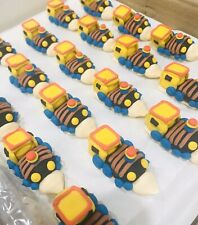24 x Edible Icing 3D Train Cupcake Toppers Decorations Party Cakes Sugar Party