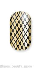 Minx Foil Nail Cover Nail Art Sticker Manicure Wraps Shiny Gold Fishnet French