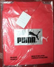 Puma golf shirt red sz S womens sample black white pink logo button front
