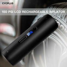 Car Air Pump Rechargeable with Light LCD Screen Power Bank for Car Bike Bicycle
