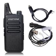 Zastone X6 Walkie Talkie UHF 400-470MHz Portable Mini Radio+ Cable+ PTT Earpiece