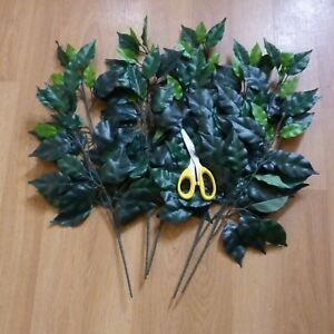 Silk Ficus Leaves 5 branches for large floristry arrangements great quality 50cm