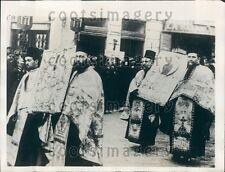 1929 Epiphany Ceremony Bucharest Rumania Press Photo