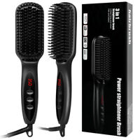 Hair Beard Straightener Multifunctional Electric Brush Beard Comb Wet & Dry Use