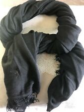 🎁Polo Ralph Lauren Scarf/shawl in Black Unisex 75%viscose 25% Cashmere