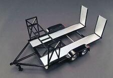 1:18 GMP Car Trailer Auto Anhänger Black Tandem Car Trailer w/ Tire Rack  #18820