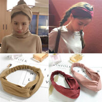 Knitting Cross Headbands Silk Knot Turban Women Headband Hair Accessory'Headwrap