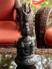"""Antique Cambodia Brass Bronze Statue bell buddhist bell 7 3/4"""" vintage piece"""