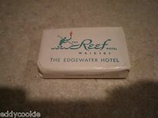 VINTAGE TRAVEL SOAP: The Reef Hotel WAIKIKI - The Edgewater Hotel - Hawaii