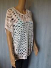 ROCKMANS Ladies White Crochet Style Top Size M  Women's  Size 12-14, Jumper
