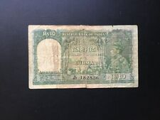 Burma (Reserve Bank of India), 1938, KGVI, 10 Rupees, P5, Taped on reverse