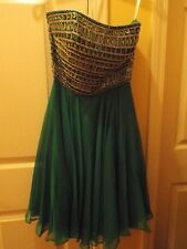 Sherri Hill Emerald Dress Size 2