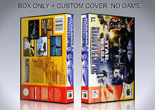 STAR WARS SHADOWS OF THE EMPIRE. Box/Case. Nintendo 64. BOX + COVER. (NO GAME).