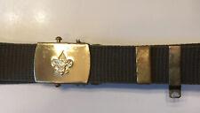 Vintage Boy Scout Official Uniform Belt Green Canvas Size S/M Small Med. 31 1/2�
