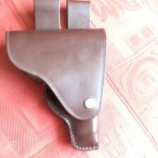 Vintage Brown Leather Military Pistol Holster