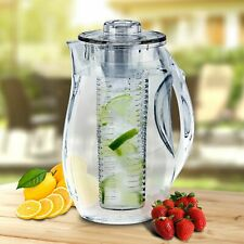 Infuze H2O 2.5 Liter Water Fruit Infusion Pitcher with Lid (Clear) BPA-Free