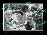 OLD LARGE HISTORIC PHOTO PEENEMUNDE GERMANY THE V2 ROCKET STATION c1942 WWII