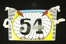 PUCH SDP BMX HANDLEBAR NUMBER PLATE OLD SCHOOL BMX GENUINE MADE iN 1980's WHITE
