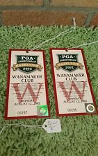 Ticket from the 2002 Golf PGA held at Hazeltine - Wanamaker Club 8/12/02