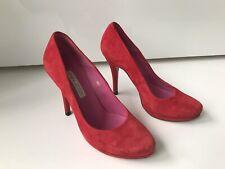 Schuhe Pumps Buffalo Plateauschuhe Leder Gr. 37 rot