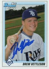 2010 Bowman DREW VETTLESON Signed Card RAYS auto rc BREMERTON, WA autograph