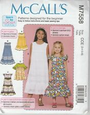 27f3eba179cf McCall s Sewing Pattern 7558 Girls Tweens 7-14 Dresses Ruffles Learn to Sew