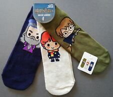 3 Paar Harry Potter Damen Sneaker Socken Set Dumbledore Ron Chibi 37-42 Füßlinge