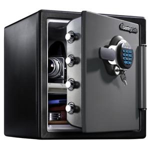 Sentrysafe Home Safe 1.23 cu.ft. Fire/Water Proof Digital Keypad Steel Black