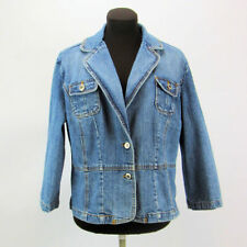 Simply Blue Jeans Womens  Size XL Blue Jean Denim Jacket By Christopher Blue