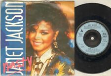 """JANET JACKSON Nasty  7"""" Ps, B/W You'Ll Never Find, Am 316 (G/Vg, Sleeve Worn At"""